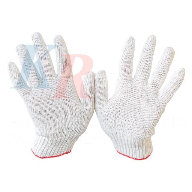 Перчатки рабочие х/б 3 нити 150 текс без ПВХ покрытия 100 % хлопок