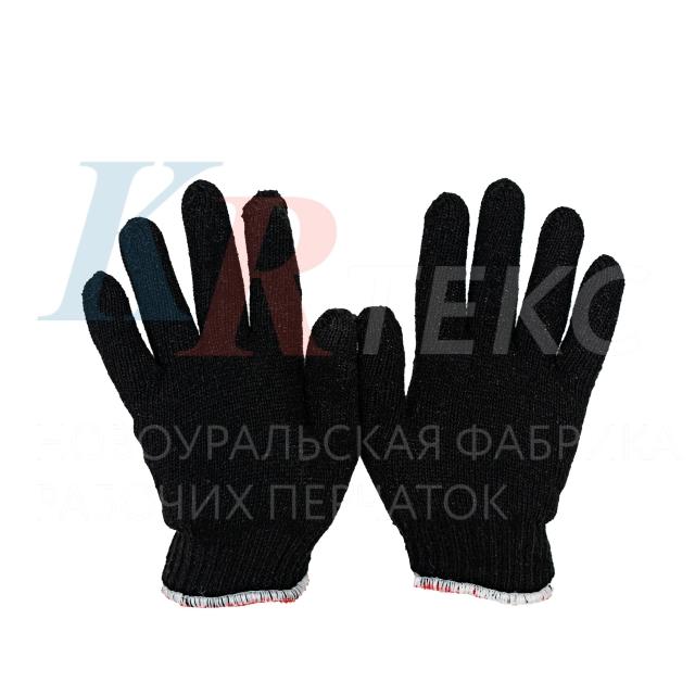 Перчатки хб рабочие ПРОФИ зимние (двойные) 436 текс, 100 грамм 10 нитка без ПВХ покрытия