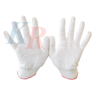 Перчатки рабочие х/б 10 класс ЛЮКС 5 нити без ПВХ покрытия