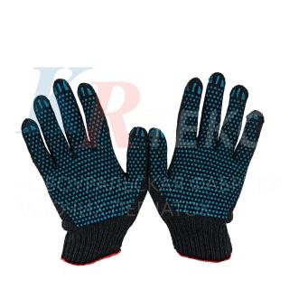 Перчатки рабочие х/б ЭКСТРА 5 нитей с ПВХ покрытием Протектор Точка