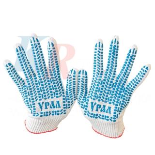 Перчатки хб с ПВХ люкс, 10 класс (5 нитей)