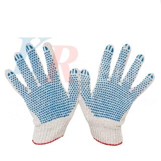 Перчатки рабочие х/б ЭКСТРА 10 класс 4 нити с ПВХ покрытием Точка